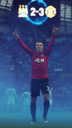 Robin Van Persie for Manchester United. After he slots in a free kick straight through Nasri to win the game 2-3.