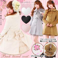 DreamV Yumetenbo Gyaru Brown Coat Japan Cute Kawaii 3XL