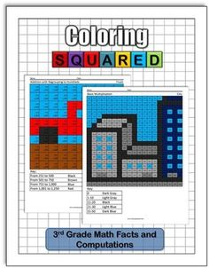 Learning Subtraction Girl 1st Grade Math Facts Coloring Squared
