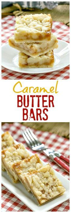 Gooey, scrumptious Caramel Butter Bars | Simple flavors with delicious results! @lizzydo