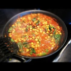 Sweet Potato, Spinach and Chick Pea Curry