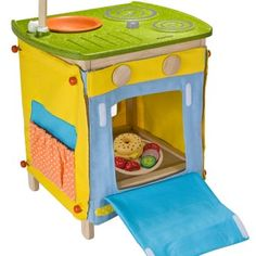 Wooden Play Kitchen - Kids Toys - greenBee