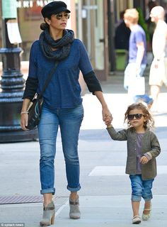 Camila Alves-McConaughey and her daughter Alva on Mother's Day with matching outfits. Smashing looks on these ladies! #StylishTots