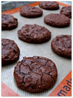 Dahlia Bakery Chocolate Truffle Cookies. These were pretty easy and taste delicious! I used Ghiradelli 60% cacao for the melted chocolate and semi-sweet mini chips to mix in. ~cj