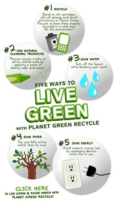 At Planet Green we all want to help do our part to save the environment. The truth is that anyone can take small steps during everyday activities that add up big.Here is a list of our top five ways to live a greener life.   1. Recycle We all know about recycling plastic bottles, soda …