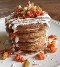 Carrot Cake Pancakes- Simply Stacked