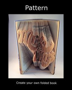 Book Folding Art Pattern Mr & Mrs 4  Pattern to by TheGiftLibrary