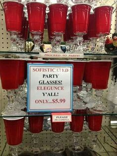 Red solo cup....