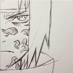 Naruto Sketch Drawing, Naruto Drawings, Anime Sketch, Manga Drawing, Drawing Sketches, Sad Drawings, Mini Drawings, Otaku Anime, Anime Naruto