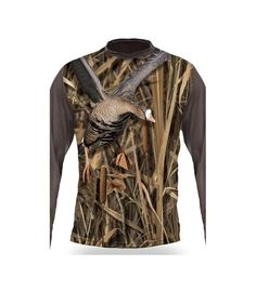 Bluza Imprimeu gasca Hillman T-Shirt LS 3d T Shirts, Hunting Clothes, Long Sleeve Shirts, Leather Jacket, Hoodies, Sweaters, Jackets, Collection, Tops