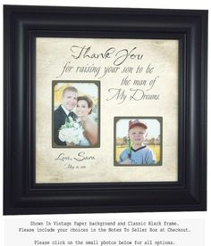 Mother of the Groom Gift Wedding Photo by PhotoFrameOriginals