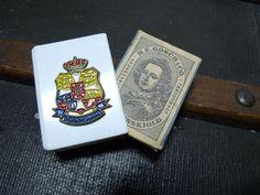 Vintage Danmark Denmark Matchbox Holder & Box with Gosch Tordenskjold Label