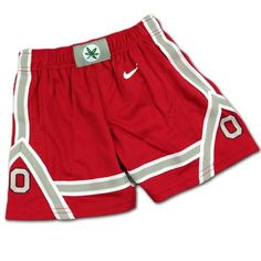 These sporty and spirited shorts will be just the thing to pull together to your tot's Buckeye t-shirt collection! These Ohio State shorts come in toddler OSU sizes and Ohio State Baby, Buckeyes, Baby & Toddler Clothing, Gym Shorts Womens, Sporty, Swimwear, T Shirt, Clothes, Collection