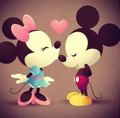 Mickey And Minnie Love, Mickey Mouse And Friends, Mickey Minnie Mouse, Disney Mickey, Disney Art, Retro Disney, Cute Disney, Disney Girls, Images Disney