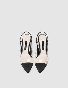 Struggling to find shoes to wear this season? Then you need to check out these shoes for summer, which will take you to the office and to drinks afterward! Black Patent Leather, Real Leather, Slingback Shoes, Heels, Slingbacks, Leather Court Shoes, Zara New, Block Heel Shoes, Shoes Uk