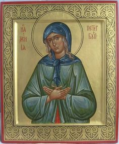 The blessed saint Xenia of petersburg