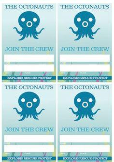 Etsy ($5) printable VIP Octonauts tags
