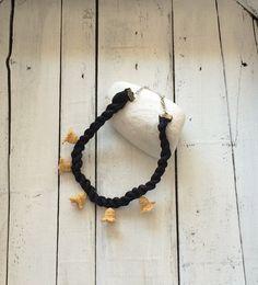 Silk Rope Statement Necklace Mustard Yellow Crochet by ReddApple, $32.00