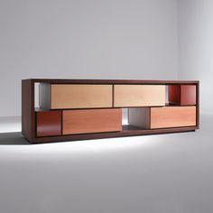 Not symmetrical - cutouts / open shelves. (BD 09 C sideboard - Bartoli Design 2010 - Laura Meroni)