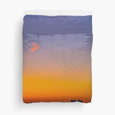 Sunset on the City - Duvet Cover - by vampyba