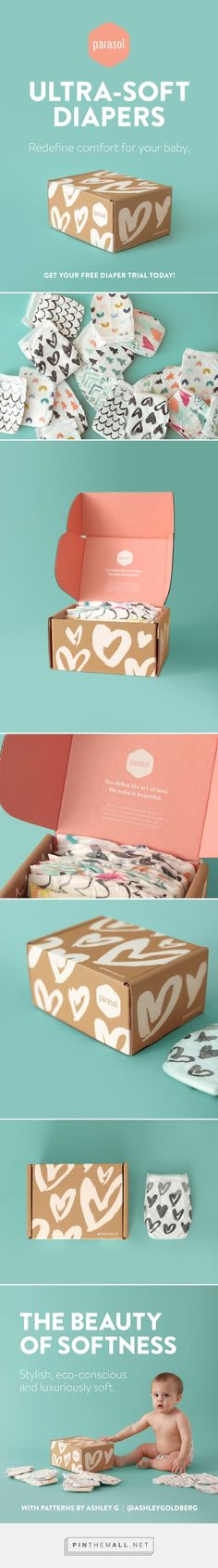 Parasol Co. Diaper Trial Packaging by James Prunean on Behance | Fivestar Branding – Design and Branding Agency & Inspiration Gallery