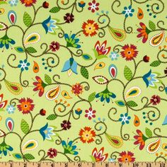 Like! - love the stitched stems and paisley-ish leaves