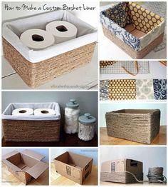 Home Diy Organization Ideas Dollar Stores Ideas For 2019 Diy Para A Casa, Diy Casa, Diy Storage Boxes, Decorative Storage Boxes, Small Storage, Craft Storage, Baskets For Storage, Cardboard Box Storage, Cardboard Boxes