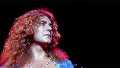 "babeimgonnaleaveu: ""  Robert Plant on stage at Madison Square Garden, 1973. """