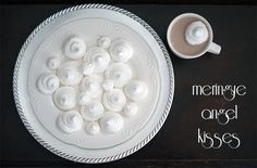 I love these meringue angel kisses—perfect for floating in your hot chocolate this holiday season!