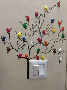 DIY Pista Shell Vogel für Wanddekoration - Diy and Crafts Rock Crafts, Diy Home Crafts, Crafts For Kids, Arts And Crafts, Diy Wall Art, Diy Wall Decor, Diy Home Decor, Decoration Crafts, Paper Wall Art