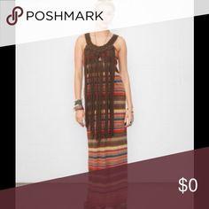 RALPH LAUREN Fringed Striped Tank Dress 💕 NWT Denim Supply Ralph Lauren Fringe Striped Tank Dress. Ralph Lauren Dresses
