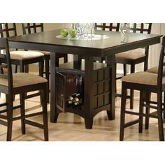 Counter Height Dining Room Table W/ Lazy Susan
