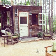 #DIY Tiny Cabin.  Less is the New MORE http://www.lynneknowlton.com/tiny-cabin/