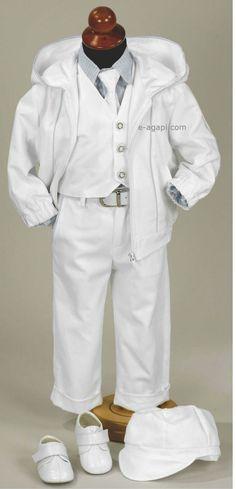 Greek Baby boy baptism white costume SET * Christening Greek orthodox * first birthday outfit * Shoes option by eAGAPIcom on Etsy https://www.etsy.com/listing/205505224/greek-baby-boy-baptism-white-costume-set