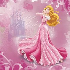 "First in a series showing Disney girls during Christmas: Aurora from ""Sleeping Beauty""."