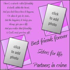 best friends forever sayings Love My Best Friend, Two Best Friends, True Friends, Friendship Poems, Best Friendship, Best Friends Forever Quotes, Christian Poems, Friend Poems, Chicken Tikka