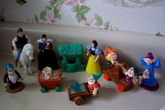 Snow White and the Seven Dwarfs McDonalds Happy Meal Toy complete Set, 1992