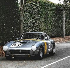 All Dressed up.  Ferrari 250 GT SWB Berlinetta, in a race mood.