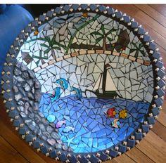Mosaic Birdbath by Maureen Simmons