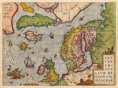 Septentrionalium Regionum Descrip, 1570, Ortelius