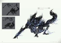 Bloodborne Concept Art - Darkbeast Paarl Concept Art