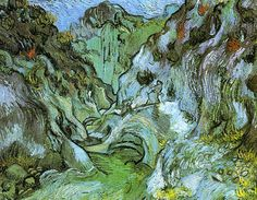 Les Peiroulets Ravine (The gully Peiroulets) - Vincent van Gogh - Painted in Oct 1889 while in the Saint-Rémy Asylum - Current location: Boston: Museum of Fine Arts  ................#GT