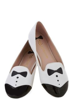 Dash of Dapper Flat in White, #ModCloth