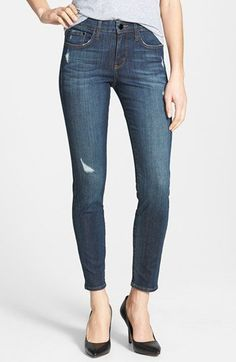 !iT Collective 'Taylor' Stretch Ankle Skinny Jeans (Dark Ocean) | Nordstrom