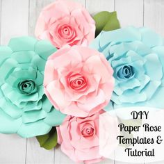 Giant Paper Rose Templates- Regina Style - Catching Colorlfies