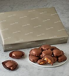 Our pecan caramel pixies are irresistible. Send delicious chocolate pixies to someone you care about to let them know that you're thinking of them! Chocolate Box, Delicious Chocolate, Family Traditions, Pretzel, Special Gifts, Special Occasion, Pixies, Fun Things, Madness