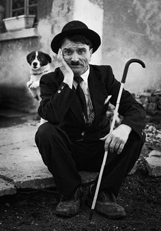 Charlie and his dog