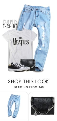 """""""The Beatles-Band T-Shirt"""" by majezy ❤ liked on Polyvore featuring STELLA McCARTNEY and Converse"""