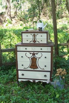 junk drawer diva | Italian Sunflower Dresser Junk Drawer Diva