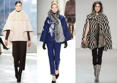 Outerwear trend: Capes. Love the Tracy Reese example on the right!
